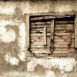 Wall of a deserted house — Stock Photo