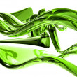 Royalty-Free Stock Photo: 3d bright green glass waves