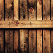 Stock Photo: Old brown wood fence