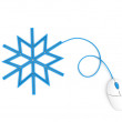 Royalty-Free Stock Photo: Snowflake depicted by computer mouse