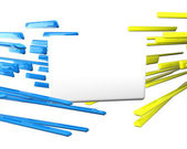 3d plane for text over crossing lines — Stock Photo