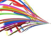 Isolated 3d multicolored cables — Stock Photo
