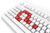 Keyboard with question-mark — Stock Photo