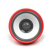 Rode spreker op witte achtergrond — Stockfoto