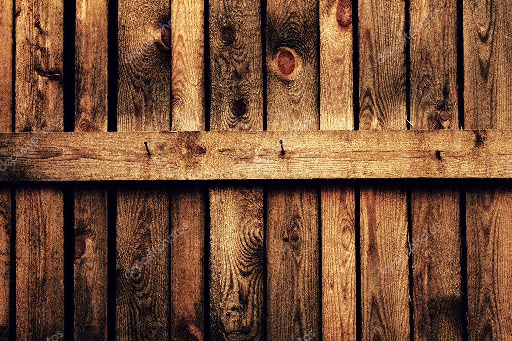 Old brown wood fence  Stock Photo #1029254