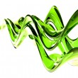 Stock Photo: Thin bright green glass waves