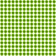 Bright green spheres field — Stock fotografie