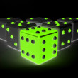 Glowing dices — Stock Photo