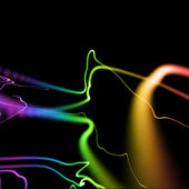Bright colorful wavy background — Stock Photo