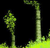 Zelené hleděl komín stonky — Stock fotografie