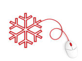 Snowflake depicted by computer mouse — Stok fotoğraf