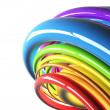 Colorful cables in perspective — Stock Photo