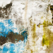 Grunge partially painted wall texture - Zdjęcie stockowe