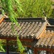 Roof of ancient chinese house — Stock Photo