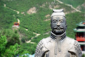 Ancient warrior on the Great Wall — Stock Photo