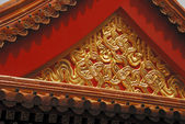 Ornate chinese roof of temple — Stock Photo