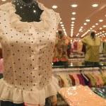 Woman clothing shop — Stock Photo