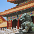 Bronze lion in Forbidden City — Stock Photo #1011715