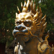 Bronze lion in Forbidden City garden — Stock Photo #1011763