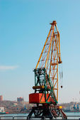 Crane in port — Foto Stock
