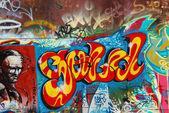 Renkli grafiti — Stok fotoğraf
