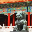 Bronze lion in Forbidden City — Stock Photo #1024886