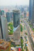 Pudong district in Shanghai — Stock Photo