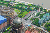 Huangpu bird eye view — Stock Photo