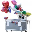 Royalty-Free Stock Photo: A cart with ballons