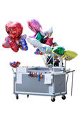 A cart with ballons — Stock Photo