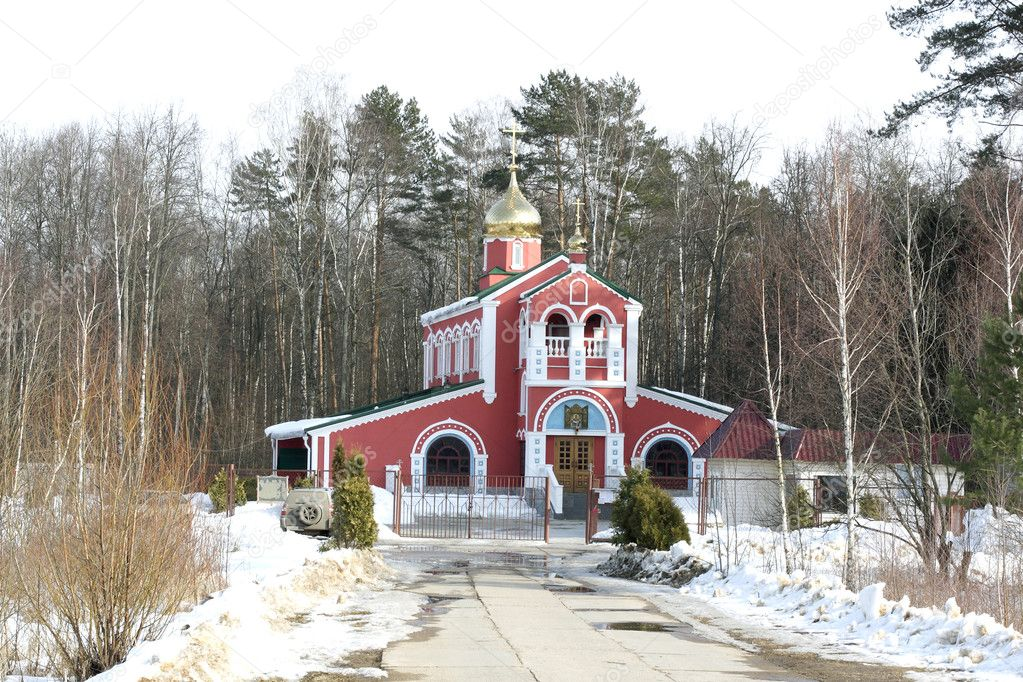The image of the country church — Stock Photo #1013410