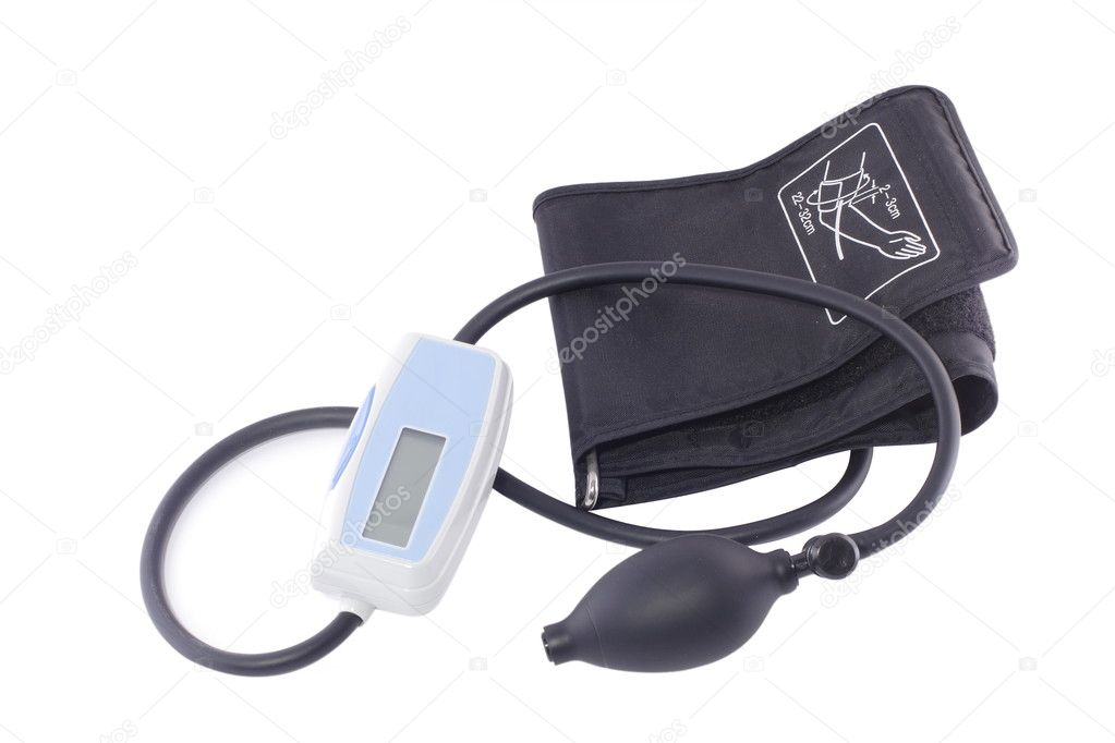 Blood pressure measuring instrument under the light background  — Stock Photo #1019334