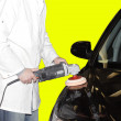 Polishing car — Stock Photo #1039239