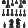 Royalty-Free Stock Photo: Complect of the black chessmen