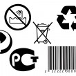 Bar code and different signs — Stock Photo