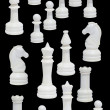 Complete of the white chessmen — Stockfoto
