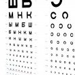Royalty-Free Stock Photo: The eye chart