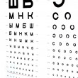 The eye chart — Stock Photo