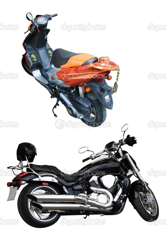 Motorcycles under the white background — Stock Photo #1128719