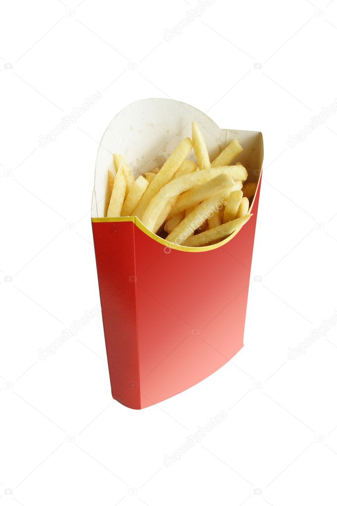 Fried potatoes in the red package — Stock Photo #1129356