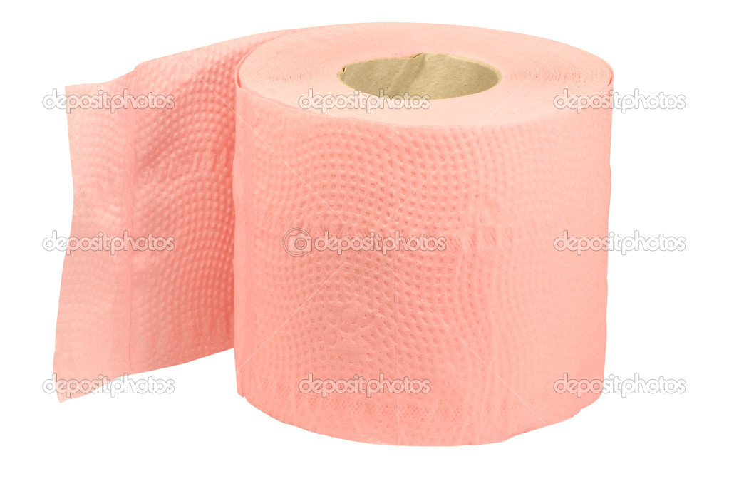 Roll of toilet paper under the white background — Foto Stock #1345529