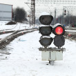 Railway traffic lights — ストック写真