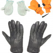 Gloves and mitten — Stock Photo