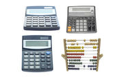 Calculators and abacus — Foto Stock