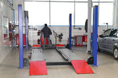 Atelier d'entretien de la voiture — Photo