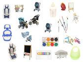 Objects of child's upbringing — Stock Photo