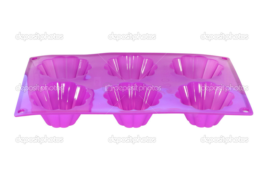 Silicone baking pan under the white background — Stock Photo #2534890