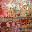 Grunge paint on metal background - Foto Stock