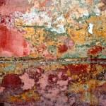 grunge färg på metall bakgrund — Stockfoto
