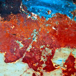 Grunge paint on metal background — Stock Photo #1025536
